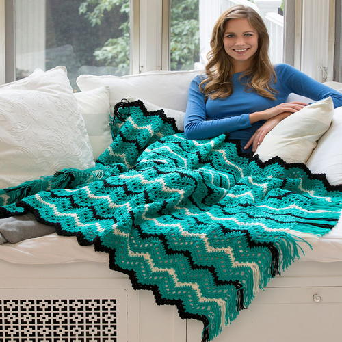 Mystic Jade Ripple Throw