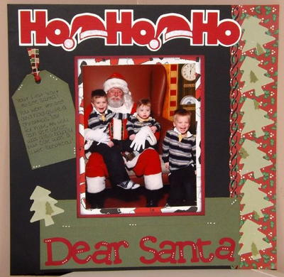 Santas Lap Scrapbook Layout