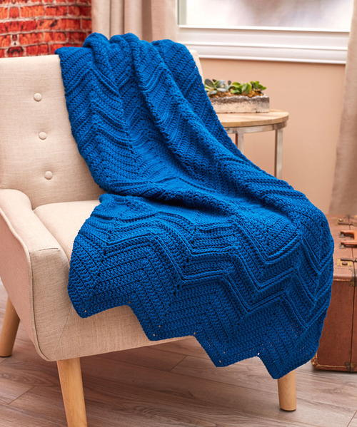Elegant Ripples Crochet Throw