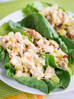 Waldorf Chicken Salad Lettuce Wraps