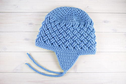 Celtic Dream Earflap Crochet Hat