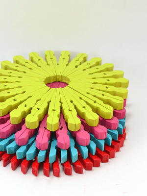 Colorful Clothespin DIY Trivet