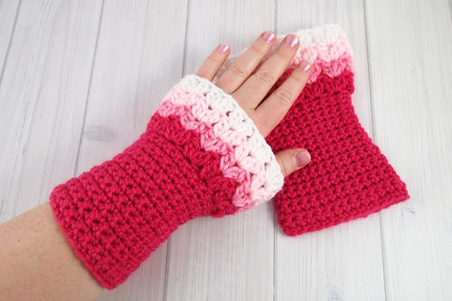 Sweetheart Crochet Wrist Warmers