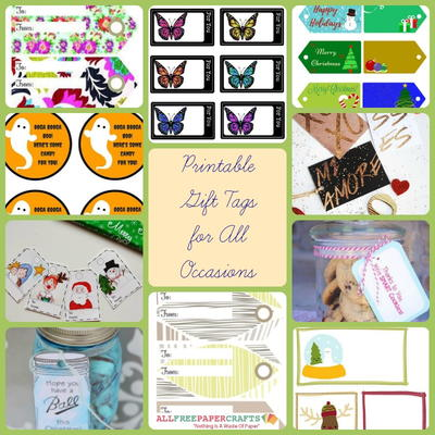 image about Large Gift Tags Printable called 19 Printable Reward Tags for All Instances