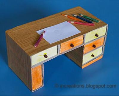 Matchbox Desk Paper Craft For Kids Allfreepapercrafts Com