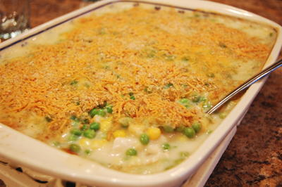 Chicken Casserole With Corn And Peas