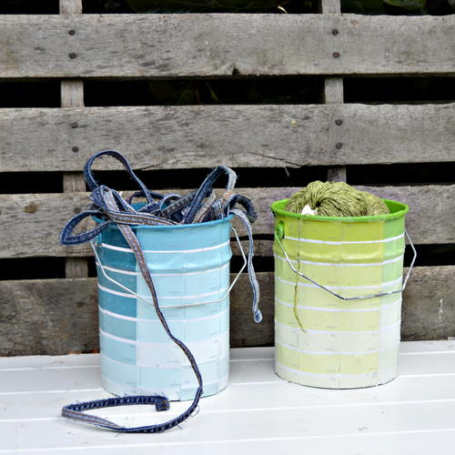 Decoupage Paint Cans