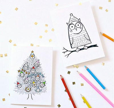image regarding Free Printable Holiday Cards identified as Absolutely free Printable Xmas Playing cards in the direction of Shade