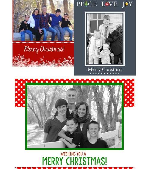 Christmas Photo Printable Card Templates