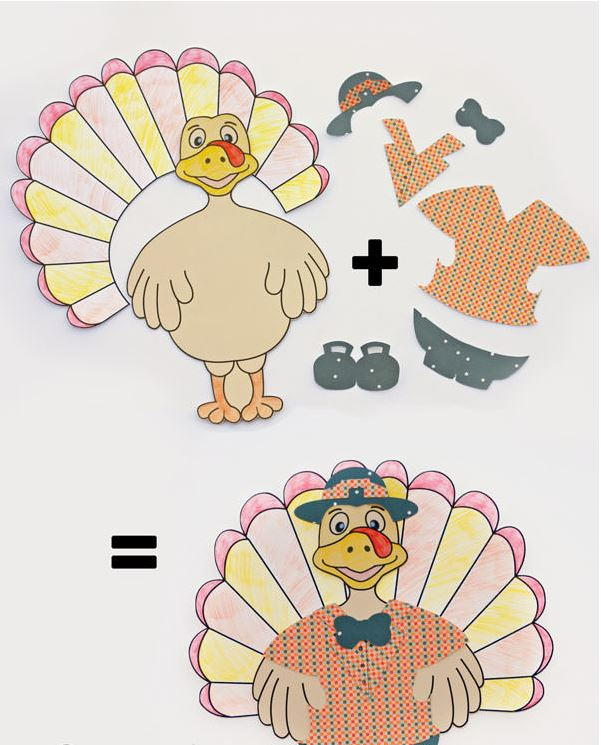 Fun Dress Up Thanksgiving Turkey Allfreekidscrafts Com
