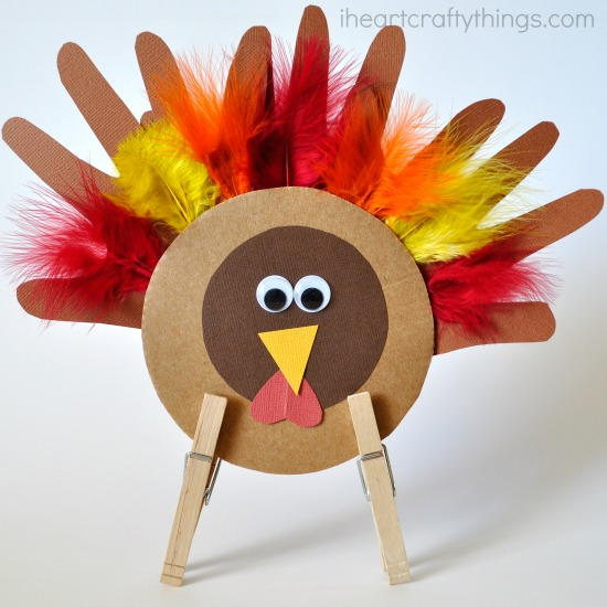How To Use Leaves Thanksgiving Turkey Kid Craft