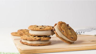 Vegan Chocolate Chip Banana Nice Cream Sandwiches