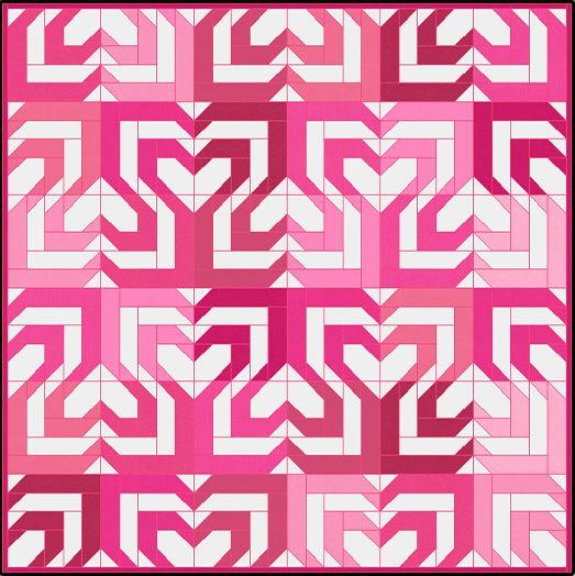 Heartbeat Jelly Roll Pattern