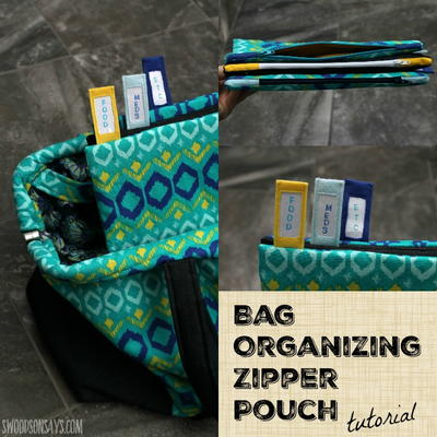 Bag Organizer Zipper Pouch Tutorial