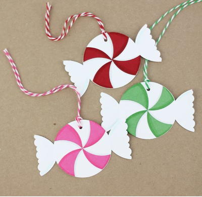 Punched Peppermint Homemade Gift Tags