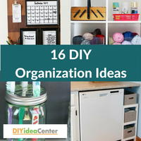 16 DIY Organization Ideas