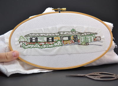 Happy Home Embroidery Pattern