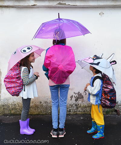 Upcycled Umbrellas Backpack Rain Covers