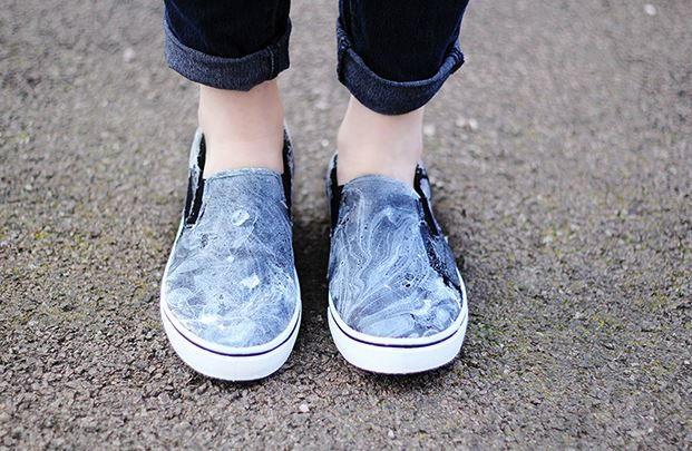 Marble pattern diy shoes design for Diy shoes design