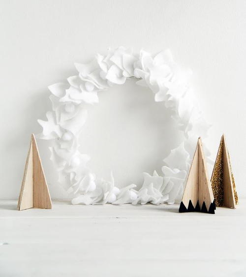 Pom Pom DIY Christmas Wreath