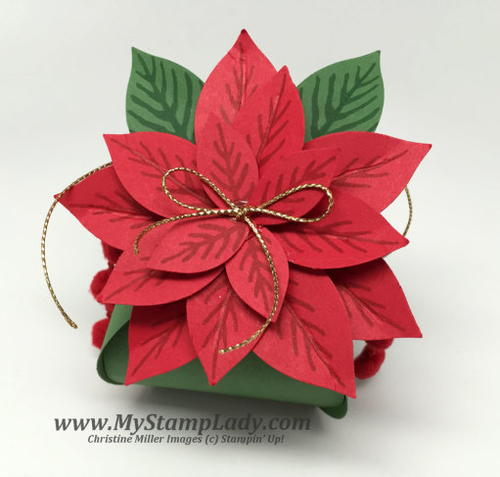 Pretty Paper Poinsettia Gift Box Idea