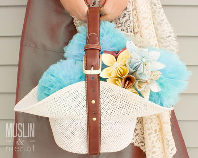 Hat and Belt Flower Girl Basket