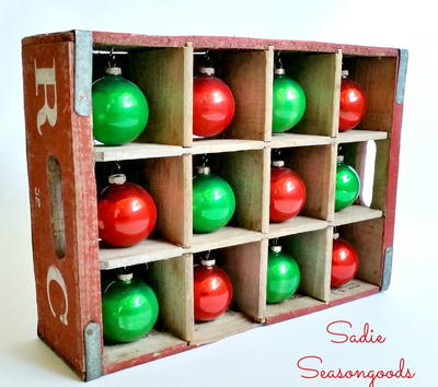 Wooden DIY Ornament Storage