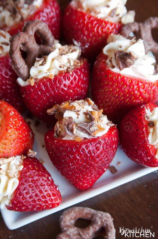 Rum Cheesecake Stuffed Strawberries Favehealthyrecipes Com