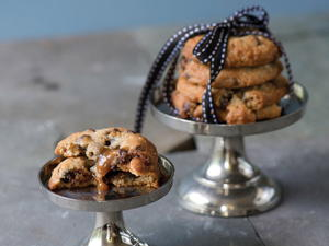 Oat, Toffee, and Chocolate Chip Cookies