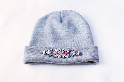 Bejeweled DIY Beanie Tutorial