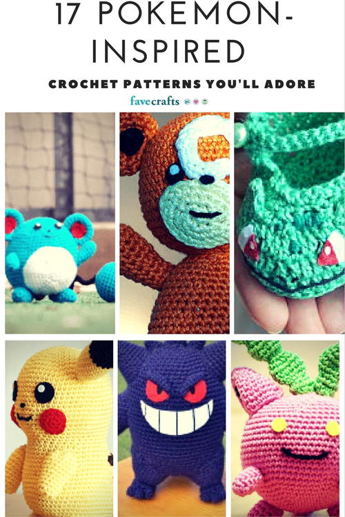 17 Pokemon-Inspired Patterns Youll Adore