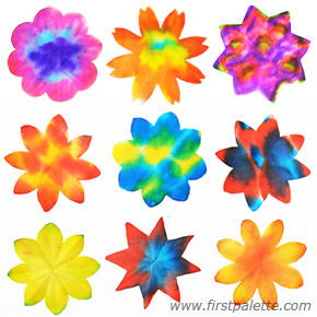 Colorful Coffee Filter Flowers