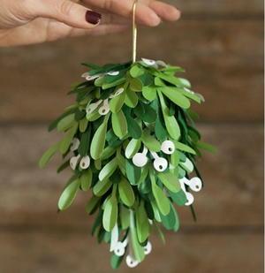 picture regarding Printable Mistletoe named Printable Paper Mistletoe Kissing Ball