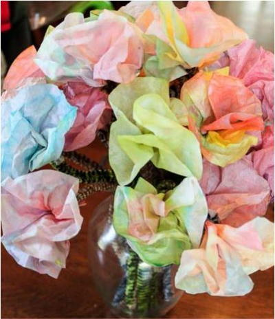 Grandmas Favorite Colored Coffee Filter Flowers