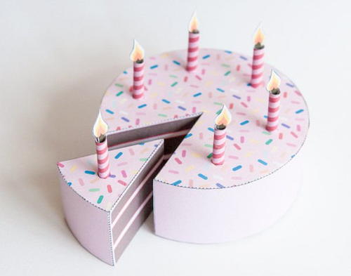 Lets Party Printable Birthday Cake