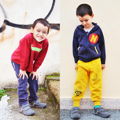 Repurposed Sweatershirt Pants for Kids