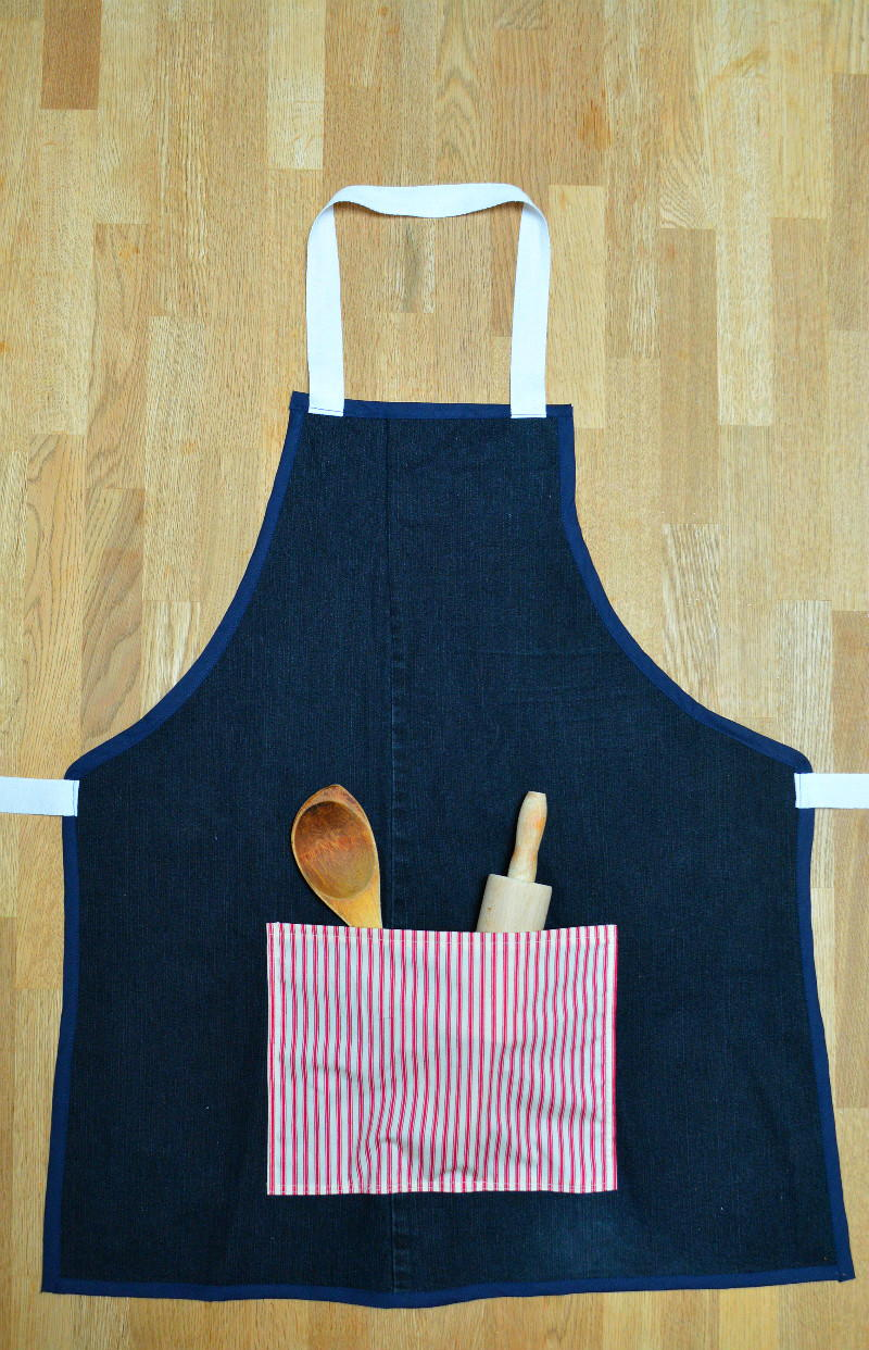 Recycled Denim Apron Tutorial Allfreesewing Com