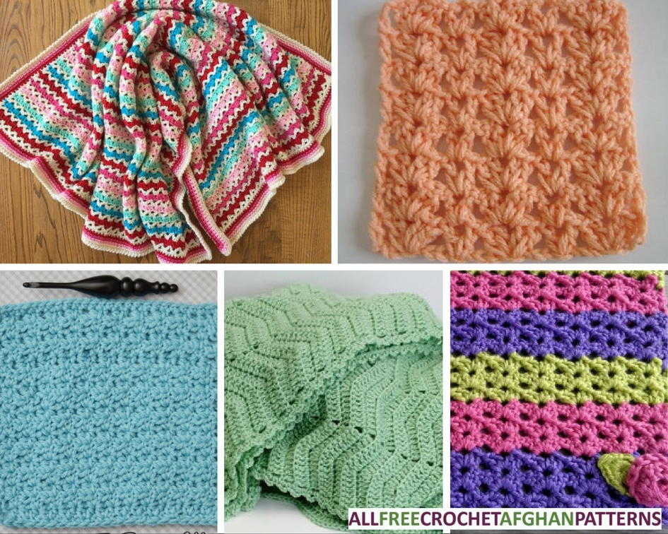 45 V-Stitch Crochet Afghan Patterns ...