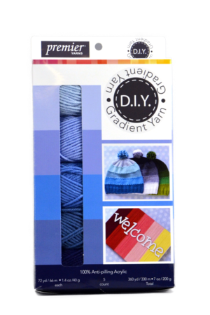 Blue Gradient Yarn Bundle Giveaway