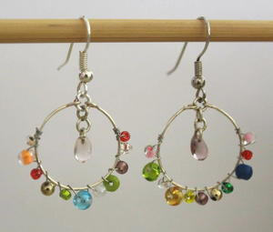 Stashbusters Beaded Hoop Earrings