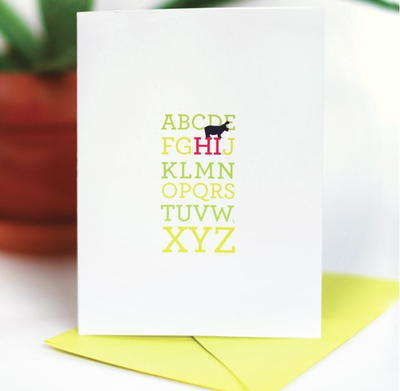 Alphabet Message Printable Greeting Card