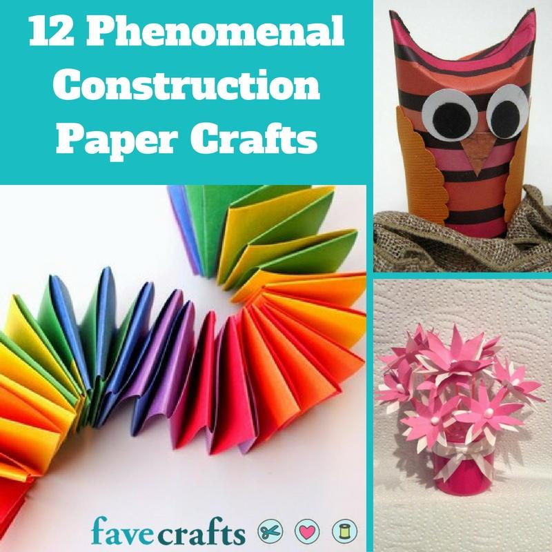 12 Phenomenal Construction Paper Crafts | FaveCrafts.com