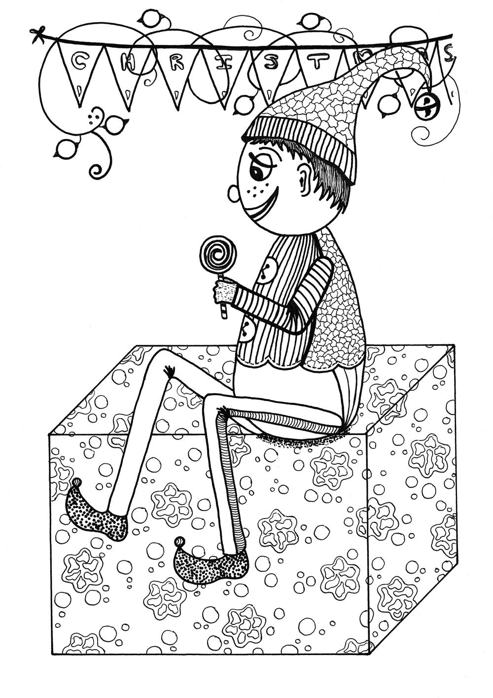jolly christmas coloring books for adults jolly coloring page allfreechristmascrafts 7805