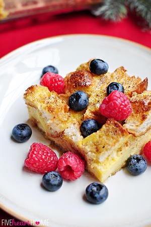 Maple Eggnog French Toast Casserole