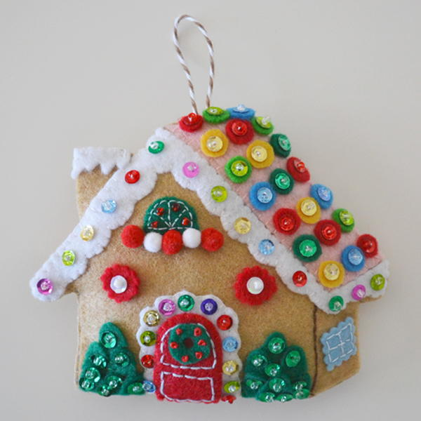Gingerbread House Christmas Ornament | AllFreeSewing.com
