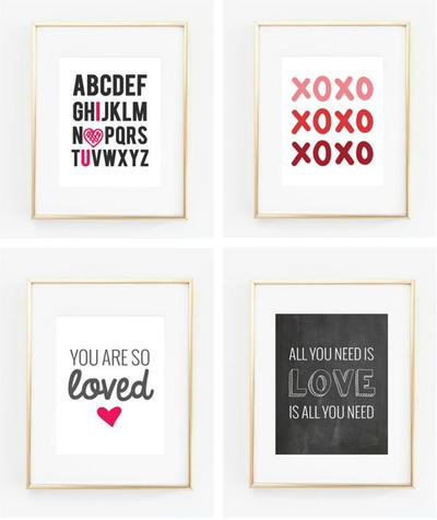 image about Valentine's Day Printable Decorations identified as 19 Attractive Valentines Working day Printables