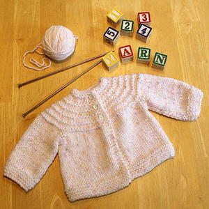 Lovely baby premature to 6 months Cardigans 4ply nice knitted Knitting pattern