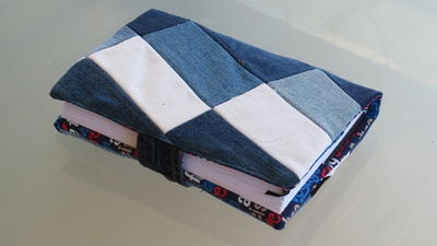 Upcycled Denim Diary Cover