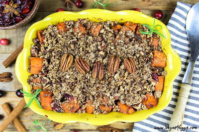 Roasted Sweet Potatoes with Pecan Crumble