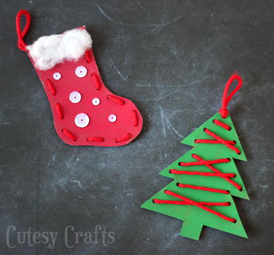Easy Embroidered Homemade Ornaments